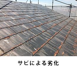 屋根下地の劣化